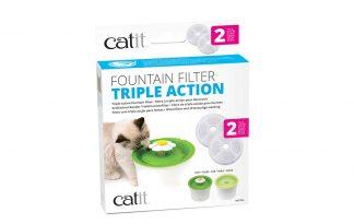 De CatIt Drinkfontein Flower Fontain vervangfilter zorgt ervoor dat katten blijven genieten van schoon stromend water. De verpakking bevat twee filters. Het is raadzaam om circa elke drie weken de filter te vervangen voor behoud van het waterkwaliteit.