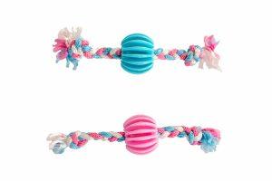 Duvo+ Puppyspeeltje snackbal met touw is perfect voor de eerste levensfase van jouw trouwe viervoeter! De bal is voorzien van een structuur en ondersteunt de ontwikkeling van een gezond gebit. Daarnaast zorgt de structuur ervoor dat tandvlees gemasseerd wordt tijdens het kauwen