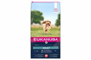 Eukanuba Adult Small Medium Salmon & Barley is droge hondenvoeding voor alle volwassen rassen. Eukanuba droogvoer in brokvorm is rijk aan zalm en gerst en daarnaast perfect voor volwassen honden van kleine en middelgrote rassen.