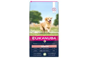 Eukanuba Senior Large Lam & Rijst is hondenvoeding voor elk ras met gevoelige huid en maag, rijk aan lamsvlees. Eukanuba droogvoer in brokvorm is rijk aan lam en rijst en perfect voor senior honden van grote rassen.