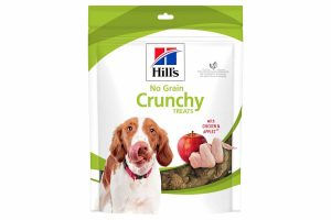 De Hill's No Grain Crunchy hondensnacks met kip en appels bevat enkel hoogwaardige ingrediënten, waardoor dit een verantwoord tussendoortje is. De snacks zijn graanvrij en zeer geschikt om te gebruiken tijdens trainingen of een wandeling.