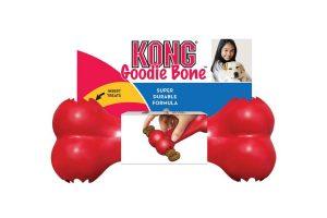 De Kong Goodie Bone is gemaakt van duurzaam en stevig rubber en is daardoor duurzaam. De speciale formule van Kong zorgt ervoor dat het bot veilig is om op te kauwen. Aan twee kanten voorzien van een speciale opening voor iets lekkers, waardoor het kauwgenot nog groter wordt voor honden!