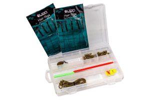 De Carp set is een compleet assortiment aan benodigdheden voor de startende karpervisser. Voorzien van 46 verschillende accessoires opgeborgen in een handige tacklebox.