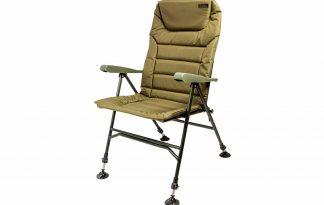 De Lion Sports Treasure Armrest is een zeer comfortabele stoel die speciaal ontwikkeld is voor de wat oudere vissers of vissers die wat minder goed ter been zijn. Dankzij deze wat hogere stoel kunnen zij langer prettig aan de waterkant zitten.