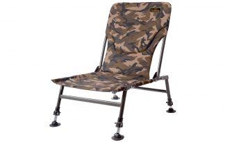 De Lion Sports Treasure Bush Carp Chair is een zeer comfortabele stoel bij het vissen. Deze stoel is licht van gewicht en erg compact, hierdoor is hij gemakkelijk mee te nemen.