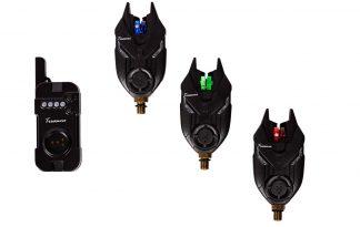 De Treasure XC 20 Bite Alarmset is een degelijke set die bestaat uit 3 beetmelders met LED aanduiding en een aanpasbaar volume. De beetmelders zijn draadloos in gebruik dankzij de ontvanger.