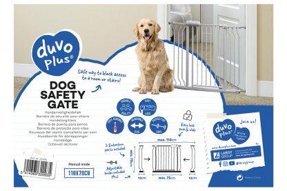 Het Duvo+ Hondenveiligheidsrekje is breed inzetbaar dankzij twee extra verlengstukken. Zo kan je het hekje gebruiken voor deuropeningen, gangen en traphallen. We kunnen verschillende redenen hebben waarom honden niet in bepaalde ruimtes mogen komen, daarvan is veiligheid de meest voorkomende.