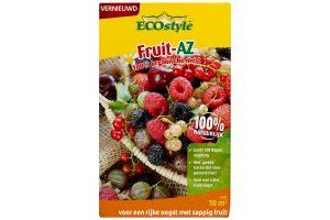ECOstyle Fruit AZ is een 100% organische meststof en geeft planten de juiste voeding, waardoor je sappig fruit krijgt. Geschikt voor klein fruit zoals onder andere bessen, bramen of frambozen.