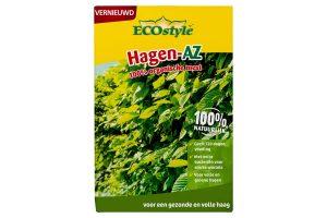 ECOstyle Hagen AZ is een 100% organische meststof en is geschikt voor bestaande als nieuw aan te planten hagen. De meststof bevat onder andere stikstof, waardoor hagen de diepgroene kleur krijgen en behouden.