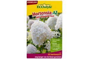 ECOstyle Hortensia AZ zorgt voor een gezond en rijk bodemleven! De unieke mix van bacteriën, schimmels en protozoa geven hortensia's extra voeding, zodat jij extra lang kan genieten van uitbundig bloeiende hortensia's.