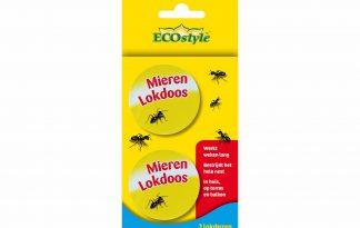 De ECOstyle Mierenlokdoos is 100% natuurlijk en heeft een langdurige werking. Een lokdoos zorgt voor een effectieve bestrijding van mieren op een eenvoudige manier, doordat de mieren zelf de lokstof meenemen naar het nest.