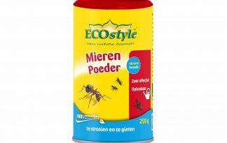 ECOstyle Mierenpoeder is zeer effectief en heeft een directe en snelle werking. Het grote voordeel van poeder is dat je deze niet alleen kan strooien, maar ook kan oplossen in water. Strooi of giet het rond de nestingangen, zodat mieren snel in aanraking komen met het product.