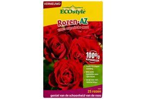 De ECOstyle Rozen AZ is verrijkt met de RhizaMax®-wortelactivator, waardoor planten sterk en gezond blijven. De roos krijgt hierdoor meer weerstand en is daardoor minder gevoelig voor meeldauw of sterroetdauw.