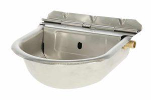 De Kerbl drinkbak met vlotter is gemaakt van RVS en daardoor corrosievrij en zeer robuust. Ideaal voor schapen, koeien of paarden. Daarnaast is de vlotter voorzien van een zelf vergrendelende klepdeksel.