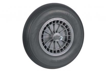 Het Wiel 400x8 Softwiel PVC kogellager 20 cm as is voorzien van een degelijke kogellager voor een hoog rijcomfort. Het wiel wordt compleet geleverd, met zowel een binnenband als buitenband. Voorzien van een aslengte van 20 cm en daardoor geschikt voor veel kruiwagens.
