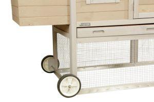 Het Kerbl wielenset voor kippenhok Bonny is een wielenset waarmee je het kippenhok kunt ombouwen tot een mobiel kippenhok. Met deze praktische wielenset kan je het Kippenhok Bonny in enkele seconden ombouwen tot verrijdbaar kippenhok.