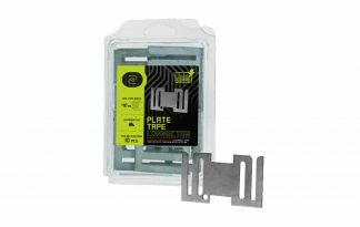 Het ZoneGuard lintverbinder plaatje is gemaakt van gegalvaniseerd metaal, waardoor hij zeer sterk is. Het plaatje zorgt ervoor dat je eenvoudig twee stukken lint met elkaar kan verbinden. Dit zorgt voor een goede geleiding en veiligheid.