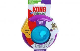 De Kong Infused Gyro is speciaal ontwikkeld om katten uit te dagen. De snackdispenser heeft een unieke rol- en draaiactie, waardoor jouw kat uren bezig is! Wanneer je kat er tegen aan tikt draait het speeltje om en stimuleert daarmee de sluip- en bespringinstincten.Gemaakt van veilig materiaal en zeer stevig.