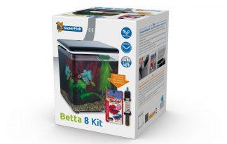 Het Superfish Betta 8 kit aquarium is een blikvanger in elke ruimte, van woonkamer of keuken tot in het kantoor. Deze plug-and-play aquaria zijn tevens gemakkelijk te installeren en te onderhouden. Het aquarium is voorzien van een geïntegreerde filter en pomp.