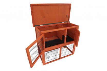 Het Duvo+ Woodland Raymond konijnenhok is voorzien van twee verdiepingen, zodat jouw huisdieren alle ruimte hebben.