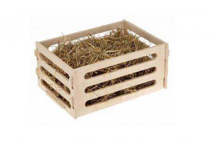De Ferplast hooiruif 2 is geschikt voor cavia's en konijnen. De hooiruif gemaakt van FSC gecertificeerd hout en daardoor is de hooiruif ook duurzaam. Ideaal om te plaatsen in een groter konijnenverblijf!