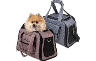 De Jack & Vanilla Bizou draagtas zorgt ervoor dat jouw hond veilig mee kan. De tas is voorzien van een handig opbergvak aan de zijkant, zodat je ook spullen mee kan nemen. De voorzijde en bovenzijde zijn voorzien van gaas, zodat er voldoende luchtcirculatie is