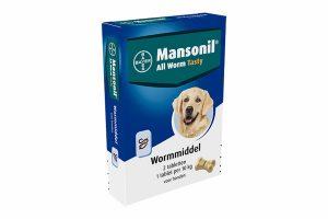 De Mansonil All Worm zijn ontwormingstabletten voor honden. Het doodt de belangrijkste rond- en lintwormen die bij honden voorkomen. Denk daarbij aan de spoelwormen, lintwormen, haakwormen en ook zweepwormen.