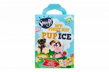 Het Smoofl hondenijs was de hit van afgelopen zomer! Met de Smoofl puppy starterkit heb jij alles bij elkaar om meteen te starten met het maken van hondenijsjes. De set bevat twee smaken, 10 eetbare stokjes en een een Small ijsmal.