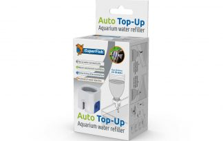 Het Superfish Auto Top-Up systeem is een handige aquarium bijvuller. Hiermee handhaaf je eenvoudig het waterniveau van je aquarium, ook als je niet thuis bent. Schroef de Auto Top-Up op een schone PET-flet gevuld met 1-2 liter vers water.
