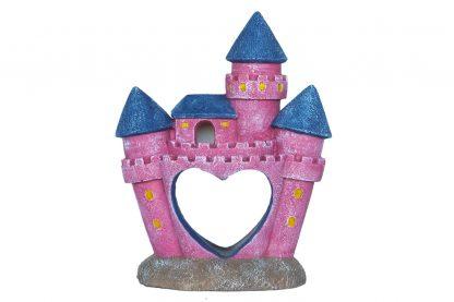 De Superfish Deco Castle Princess is een mooie decoratie voor in het aquarium. Met dit roze kasteel is het daarnaast mogelijk om een sprookjes achtige sfeer te creëren in je aquarium. Tevens biedt het als mooie schuilplaats voor je vissen.
