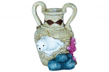De Superfish Deco Jar is een mooie decoratie voor in het aquarium. Met deze serie van vazen met daarbij een waterdier is het tevens mogelijk om een vrolijke sfeer te creëren in je aquarium. Tevens biedt het als mooie schuilplaats voor je vissen.
