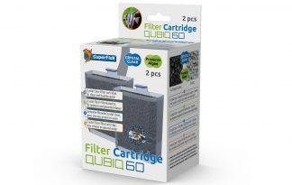 De Superfish QubiQ 60 PRO filtercartridge is een vervangende filter voor het QubiQ 60 PRO aquarium. Het bestaat uit een 100% open filterschuim in combinatie met Crystal Clear. De Crystal Clear filtercartridge zorgt tevens voor glashelder, gezond water zonder algen door de fosfaat- en nitraatgehaltes omlaag te halen.