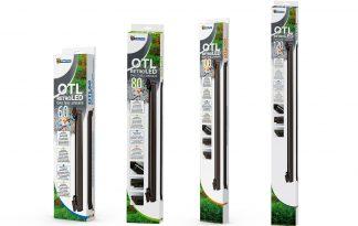 De RetroLED OTL armatuur is een mat zwarte slim line design armatuur voor open aquaria. Speciaal ontwikkeld voor de LED verlichting met ruimte voor 3 Retro LED T8 lampen (lampen niet inbegrepen).