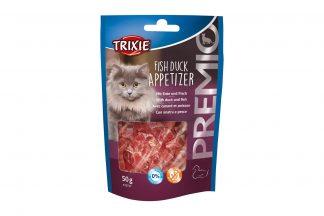 De Trixie Premio Fish Duck Appetizer is een heerlijk tussendoortje voor jouw kat! De snack is gemaakt van eend met vis en daardoor zeer smakelijk. Daarnaast bevat het geen suiker en is het glutenvrij.