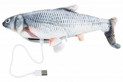 De Trixie kattenspeelgoed spartelvis zorgt voor een uitdaging en voorkomt daardoor verveling. De vis spartelt onregelmatig bij aanraking en stopt na 15 seconden automatisch, daarna start het spartelen opnieuw bij aanraking.