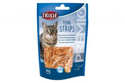 De Trixie Premio Tuna Strips hebben een visgehalte van 90% en zijn daardoor zeer smakelijk voor katten! Daarnaast bevat de snack geen suiker en is daardoor zeer geschikt als tussendoortje.