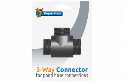 De Superfish 3 weg Blister is een koppelstuk voor het aansluiten van vijverslangen. Ook verkrijgbaar in een complete Multi aansluitset.