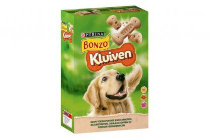 De Bonzo hapkluiven zijn ovengebakken snacks voor honden. De kluiven zijn verrijkt met Vitamine A, D en E en bevatten daarnaast ook vezels voor een gezonde spijsvertering. Ideaal als beloning na het wandelen.