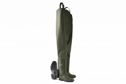 De Dunlop Waadbroek 388VP is gemaakt van 100% waterdicht polyester en is ideaal voor landbouwtoepassingen. De laarzen zijn verbonden aan de waadbroek en door de bretels blijft de waadbroek goed op zijn plek.