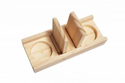 De Duvo+ Sniffle 'n Snack Edd knaagdierpuzzel is gemaakt van kwaliteitshout en heeft uitsparingen, zodat je brokjes kan verstoppen.
