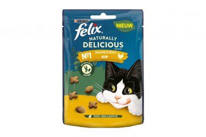 De Felix Naturally Delicious kattensnack is gemaakt van hoogwaardige ingrediënten en zijn daardoor extra lekker