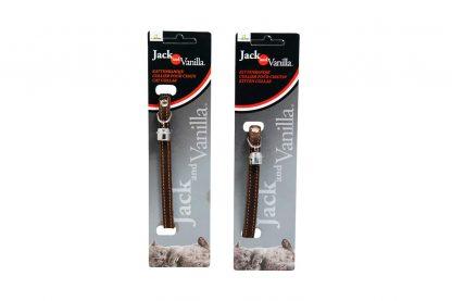 De Jack & Vanilla katten- & kittenhalsband zorgt ervoor dat jouw huisdier er altijd stijlvol bijloopt. De halsband is gemaakt van gevet leder en verkrijgbaar in meerdere kleuren. Daarnaast is de halsband afgewerkt met een stiksel, waardoor het geheel er stijlvol uitziet.