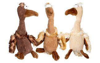 DeVelveties vogel hondenknuffel is gemaakt van stevige stof. Daarnaast is de knuffel groot van formaat, maar liefst 30 cm. Het gordeldier heeft verschillende structuren en is daardoor interessant voor honden.