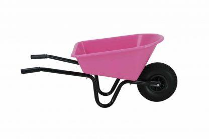 De Kinderkruiwagen metaal met kunststof bak is geschikt voor kinderen vanaf circa 4 jaar. Voorzien van kunststof handvatten, waardoor kinderen de kinderen de kruiwagen makkelijk vasthouden.