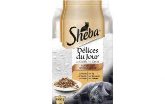 De Sheba Délices du jour gevogelte selectie is een zeer smakelijke maaltijd voor katten, doordat het bestaat uit malse vlees reepjes in een heerlijke gelei. Door de handige verpakking is het makkelijk doseren.