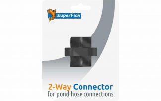 De Superfish 2 weg Blister is een koppelstuk voor het aansluiten van vijverslangen. Ook verkrijgbaar in een complete Multi aansluitset.
