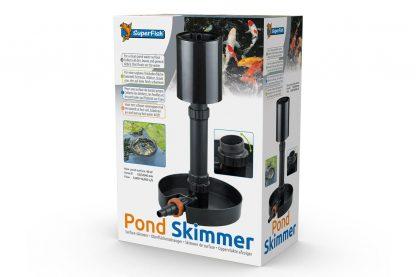 De Superfish Big Pond Skimmer is ontwikkeld voor een schoon vijveroppervlak. De skimmer verzamelt al het vuil, bladeren en stof wat op het water drijft. Tevens is het eenvoudig in onderhoud, de verwijderbare opvangkorf heeft een oog waaraan deze gemakkelijk uit het water getild kan worden.