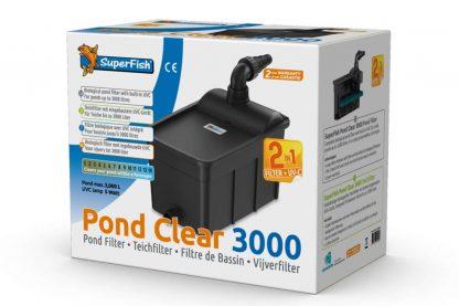 De Superfish Pond Clear 3000 UVC-5W is een complete biologische vijverfilter met 5 Watt UVC. Geschikt voor kleine vijvers tot 3000 liter. De filter wordt daarnaast compleet geleverd met filtermat en Bio-Balls voor biologische filtratie.