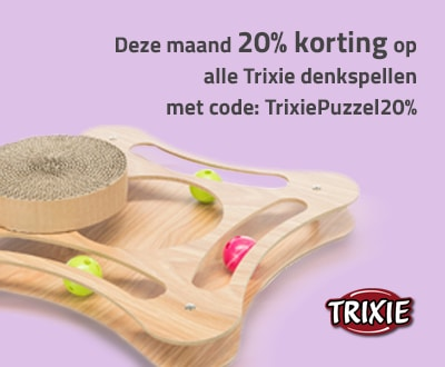20% korting op denkspellen van Trixie