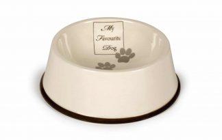 De Beeztees DBL eetbak keramiek 'My favourite dog' is een voerbak speciaal voor jouw beste vriend. Op de bak staat een print van 'my favourite dog'.
